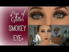Pop of Glitter Smokey Eye TUTORIAL - #smokeyeye #eyemakeup #corrinacafarelli #lashes #carlilashes #eyetutorial - Bellashoot.com & bellashoot iPhone & iPad app