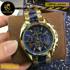 5061f527c นาฬิกาข้อมือ Michael Kors MK6268 Michael Kors Bradshaw Blue Dial  Chronograph Men's Watch MK6268 -