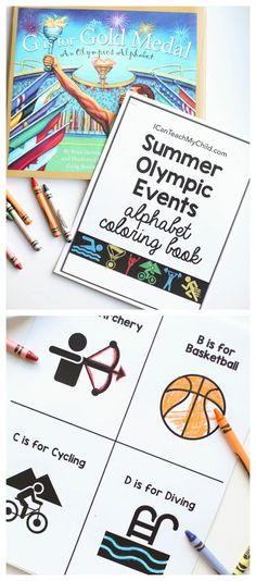 Summer Olympic Events Alphabet Book: Free printable perfect for kids watching the Olympics! Summer Olympic Events Alphabet Book: Free printable perfect for kids watching the Olympics! Olympic Games For Kids, Olympic Idea, Alphabet Coloring, Coloring Books, Colouring, Summer Olympic Events, Summer Events, Kids Olympics, Summer Olympics Sports