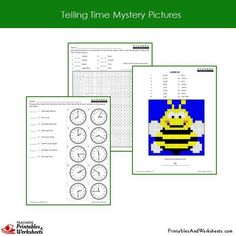 Grade 2 Telling Time Coloring Worksheets Sample 1 Clock Worksheets, Math Practice Worksheets, First Grade Math Worksheets, Alphabet Worksheets, Preschool Worksheets, Coloring Worksheets, Coloring Pages, Teacher Treats, Math Practices