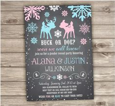 A personal favorite from my Etsy shop https://www.etsy.com/ca/listing/256966016/buck-or-doe-gender-reveal-snowflake-baby