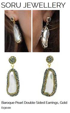 The Duchess of Cambridge wears @SoruJewellery Baroque Pearl Double Sided Earrings