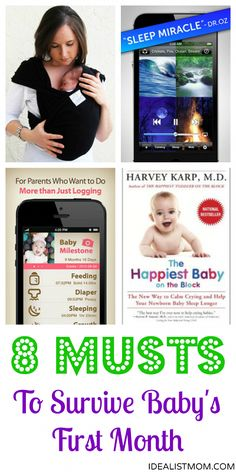 8 must-haves to survive your newborn's first month - apps, books, and gadgets you won't want to live without