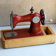 My first sewing machine! I had on just like this.
