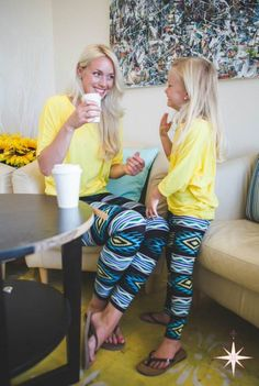 Matching mommy and me leggings from Du North Designs.