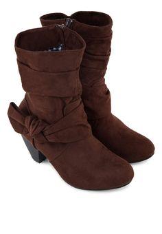 KOUMI KOUMI Pansy Mid Calf Ruffled Boots Pansy褶飾中筒靴