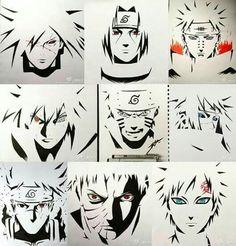 Naruto Shippuden | Kakashi Hatake | はたけ カカシ | ฮาตาเกะ คาคาชิ Naruto Minato, Madara Uchiha, Naruto Art, Naruto Shippuden Anime, Anime Naruto, Manga Anime, Boruto, Kakashi Hatake, Anime Boy Sketch