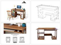 NEW Computer Desk Table with Book Storage Shelf Slide Keyboard Draw ORIGINAL  #DLfurniture #Space