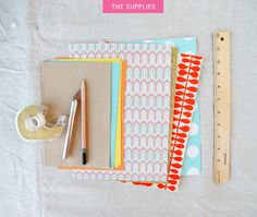 While traditional bookbinding is complicated art form, making this little notebook is nothing but easy. You need little more than a few sheets of paper and a pair of scissors.