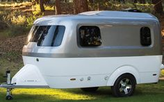 Airstream Nest Camper Trailer, can be pulled by a mid-size SUV.