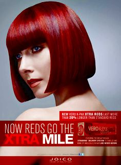 Vero K-PAK Color - Xtra Red - 1 Page Ad | Joico Professional: STiLE Lounge (Stylize, Transform, Imagine, Lead, Express)