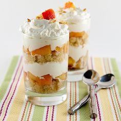 Grilled Peach & Vanilla Cake Trifle
