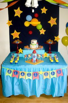 "Photo 1 of 11: rocket/space / Birthday ""Logan's 5th Birthday"" | Catch My Party"