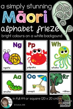 Classroom Resources, Teaching Resources, Alphabet Posters, White Backgrounds, Maori Tattoo Designs, Teachers Aide, Bright Pictures, Classroom Environment, Primary School