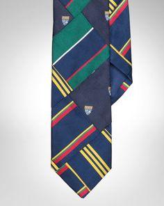 Patchwork Silk Repp Tie - Polo Ralph Lauren Ties - RalphLauren.com Ivy  League Style 73632d8fe99