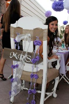 Mrs. chair for bridal shower