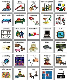 The best website with TONS of pictures for PECS or visual learning. All are free and printable!