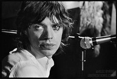 Calm among the storm: Alec Byrne's camera catches a pensive moment from Jagger during a between-song break.
