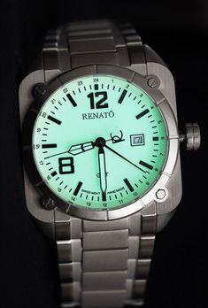 Renato Mens Quadro Swiss Ronda 515 Movement 47MM Full Lume Dial