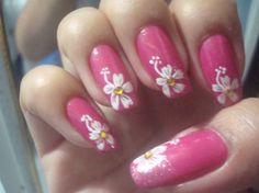 hibiscus flower by LuvUrNails - Nail Art Gallery nailartgallery.nailsmag.com by Nails Magazine www.nailsmag.com #nailart