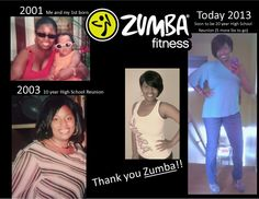 Before and After!  Zumba helped me maintain! Zumba Instructor #Zumba