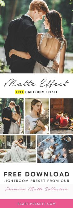 Free matte lightroom preset for photographers from our Premium Collection. Limited time offer. DOWNLOAD FREE! #lightroom #photography #weddingphotography #photographytips