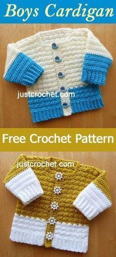 Baby Boys Cardigan   free crochet pattern   #crochet
