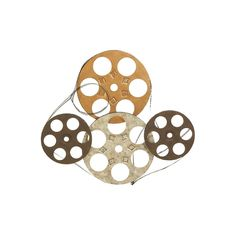 Carbon Loft Priestley Four Film Reels Metal Wall Decor (Metal Wall Decor SET OF Four Film Reels), Multi