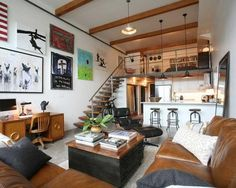 Looking for loft conversion design ideas? Make the extra room in your home count with these smart ideas for making the most of your loft conversions. Design Loft, Deco Design, Design Design, Apartment Design, Apartment Living, Living Rooms, Apartment Ideas, Duplex Apartment, City Living