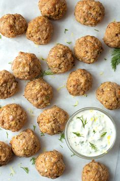 Crisp, flavorful and absolutely delicious. You're going to love this Greek twist on the Italian classic! These Greek meatballs with homemade tzatziki are ready to go in 30 minutes.