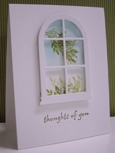 Stamping with Loll:  Window with a View - window die, sponged background (Nov. 2012)