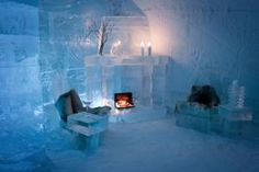 This spessielle igloo hotel is situated along the Alta River The impressive 2000 m'2 large building made of snow and ice each year, providing a unique experience. North of Norway