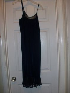 Vintage Dark Blue Long Night Gown Size Small by MICSJWL on Etsy, $14.00