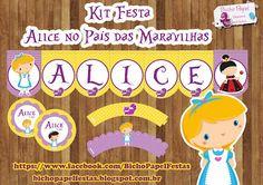Kit Festa Alice no País das Maravilhas Cute For sale  http://bichopapelfestas.blogspot.com.br/2013/12/kit-festa-alice-no-pais-das-maravilhas.html