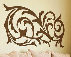 Ornamental Swirl Vinyl Decal size LARGE - Swirl, Swirl Decal, Swirl Sticker, Swirl Wall Art, Flourish, Flourish wall art, Flourish Decal