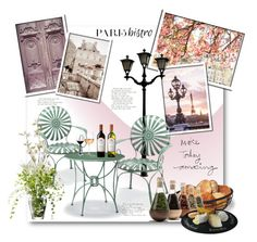 """""""Parisian Bistro"""" by anitadz ❤ liked on Polyvore featuring interior, interiors, interior design, home, home decor, interior decorating, Frontgate, Mikasa, Marc Blackwell and Riedel"""