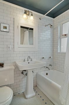 Very Cool. Subway Hex tile #Bathroom