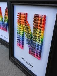 framed letters made of crayons - Google Search