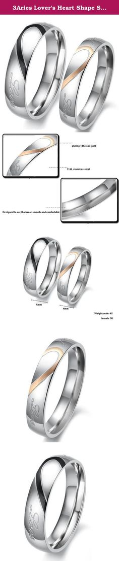 """3Aries Lover's Heart Shape Stainless Steel Men """"Real love"""" Wedding Valentine Couple Ring Size 11. Product Features: Brand name:3Aries Condition: 100% Brand new Quantity: 1PCS Pick size according to your finger ring Note:the unit price we quoted for one piece rather than one pair packaging: OPP bag inside,and giving a beautiful Silk bag as a gift. More Details: as the pictures show Why choose Stainless Steel Jewellery? Stainless Steel Jewellery does not tarnish and oxidize, which can last..."""