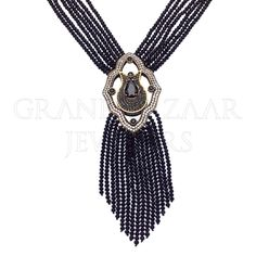 "Long Beaded Gemstone Tassel Necklace ""A STAPLE PIECE FOR YOUR JEWELRY COLLECTION BY #GBJ1455""  #Designer #TURKISH #Jewelry #JOTD #Handmade by #Jewelers & #Artisans of the #Grand #Bazaar in #Istanbul #Turkey #GBJ1455 #shop #online #GrandBazaarJewelers"