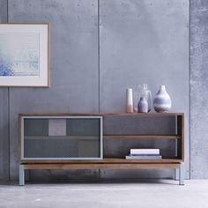 Color Bebop Metal and Teak TV Cabinet 140