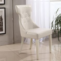 Chintaly Jade Side Chair  For The Home  Pinterest  Chintaly Inspiration White Leather Dining Room Chairs Sale Inspiration Design