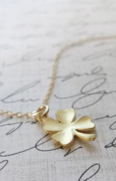 Simple Clover Necklace by Olive Yew