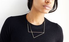 Geometric necklace.