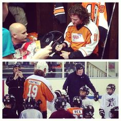 Thanks to #AAA, some lucky future #Flyers got to spend the day with Scott Hartnell!