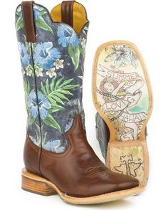Tin Haul Blue Hawaii Cowboy Boots - Square Toe | Sheplers