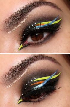 Tropical carnival makeup