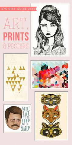 Gift Guide 2013: Art, Prints, and Posters