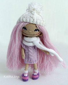 Куклы KotiKo_toys @kotiko_toys Доброе, морозное ...Instagram photo | Websta (Webstagram) ♡: Crochet Doll Pattern, Easy Crochet Patterns, Doll Patterns, Cute Crochet, Beautiful Crochet, Crochet Baby, Knitted Dolls, Crochet Dolls, Knitted Animals