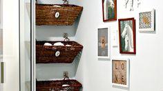 diy inspo: hang baskets for storage